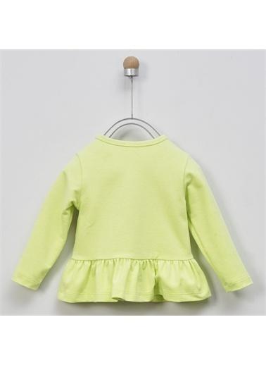 Panço Kız Bebek Fermuarlı Sweat 2011GB08001 Yeşil